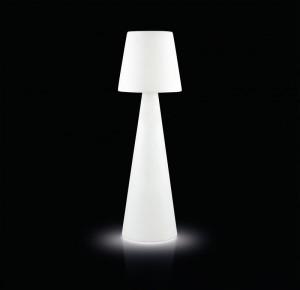 Stehleuchte aus Kunststoff, Stehlampe mit Lampenschirm weiß
