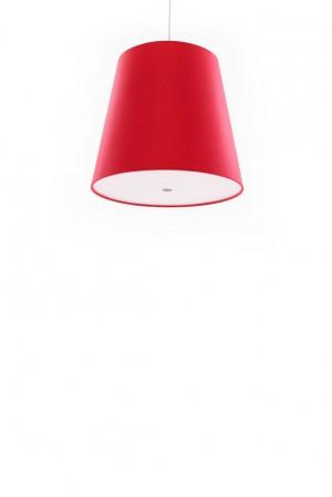 Pendelleuchte, Lampenschirm rot, moderne Pendellampe in sechs verschiedenen Farben, Ø 33 cm