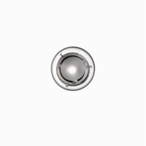 Wand- / Deckenleuchte Metall chrom, Glas transparent weiß, modern
