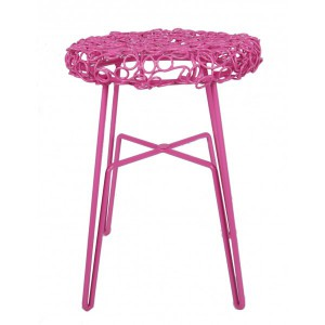 Hocker Metall, Hocker pink