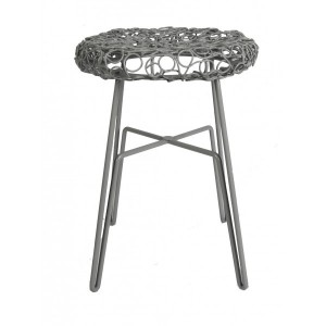Hocker Metall, Hocker grau