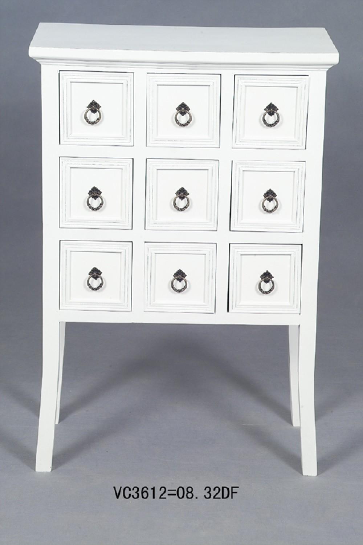 apothekenschrank kommode im landhausstil in farbe wei. Black Bedroom Furniture Sets. Home Design Ideas