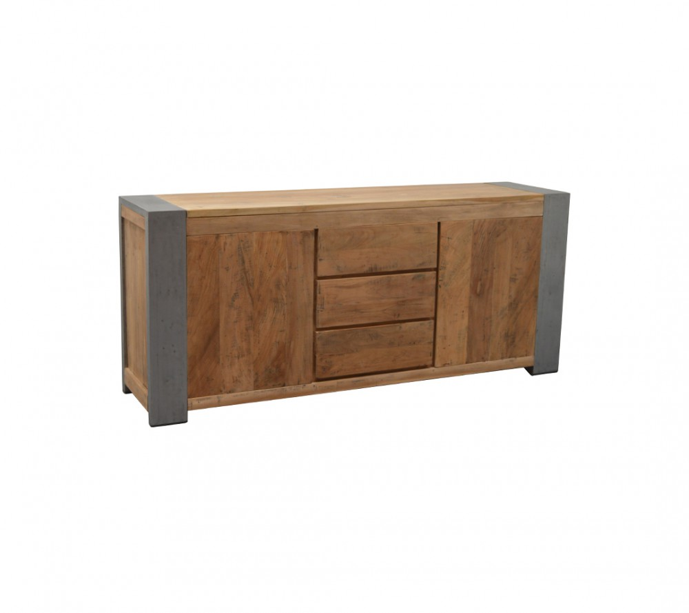 sideboard industriedesign anrichte metall holz breite 200 cm. Black Bedroom Furniture Sets. Home Design Ideas