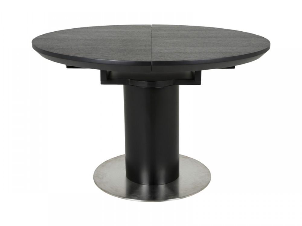 esstisch rund schwarz tisch ausziehbar durchmesser 120 160 cm. Black Bedroom Furniture Sets. Home Design Ideas