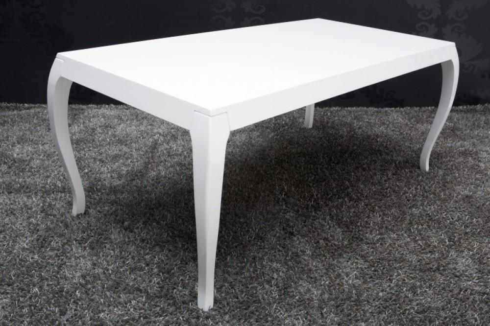 Moderner Tisch Weiß, Esstisch Barock, Schichtholz Weiß Lackiert