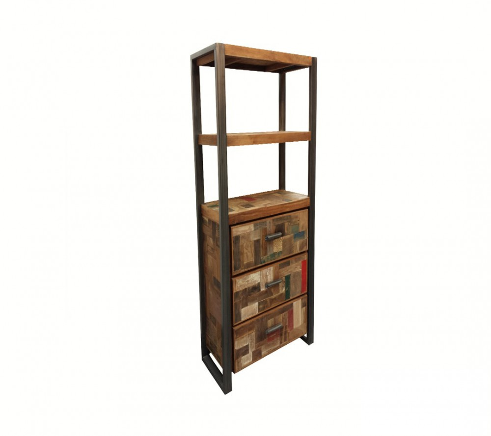 regal industriedesign, bücherregal metall holz, breite 60 cm ~ Bücherregal Industriedesign