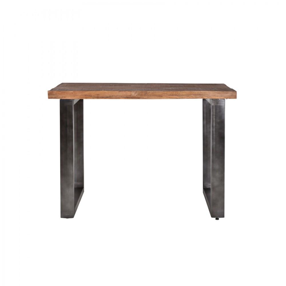 bartisch grau naturholz tresentisch industrie grau tisch metall grau h he 90 cm. Black Bedroom Furniture Sets. Home Design Ideas