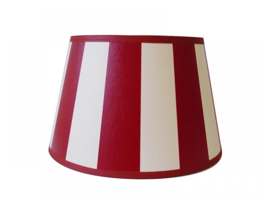 gestreifter lampenschirm rot wei rund 20 cm. Black Bedroom Furniture Sets. Home Design Ideas