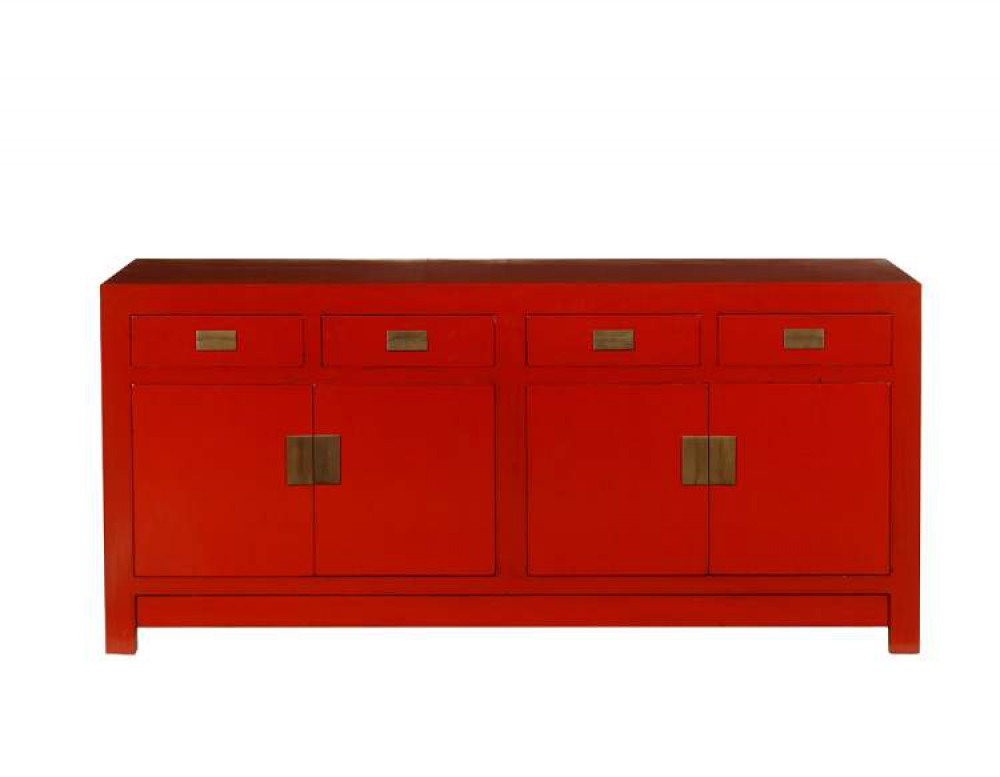 Chinesiche kommode sideboard asia mit messingbeschl gen for Kommode asia style
