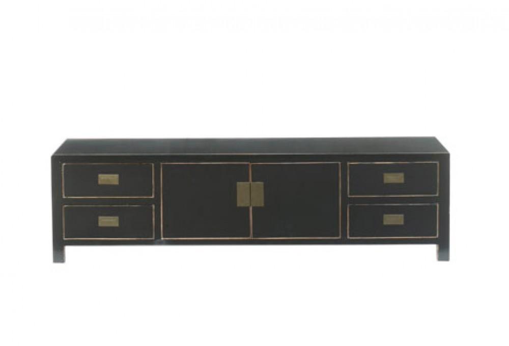 Lowboard schwarz, chinesischer Fernsehschrank \