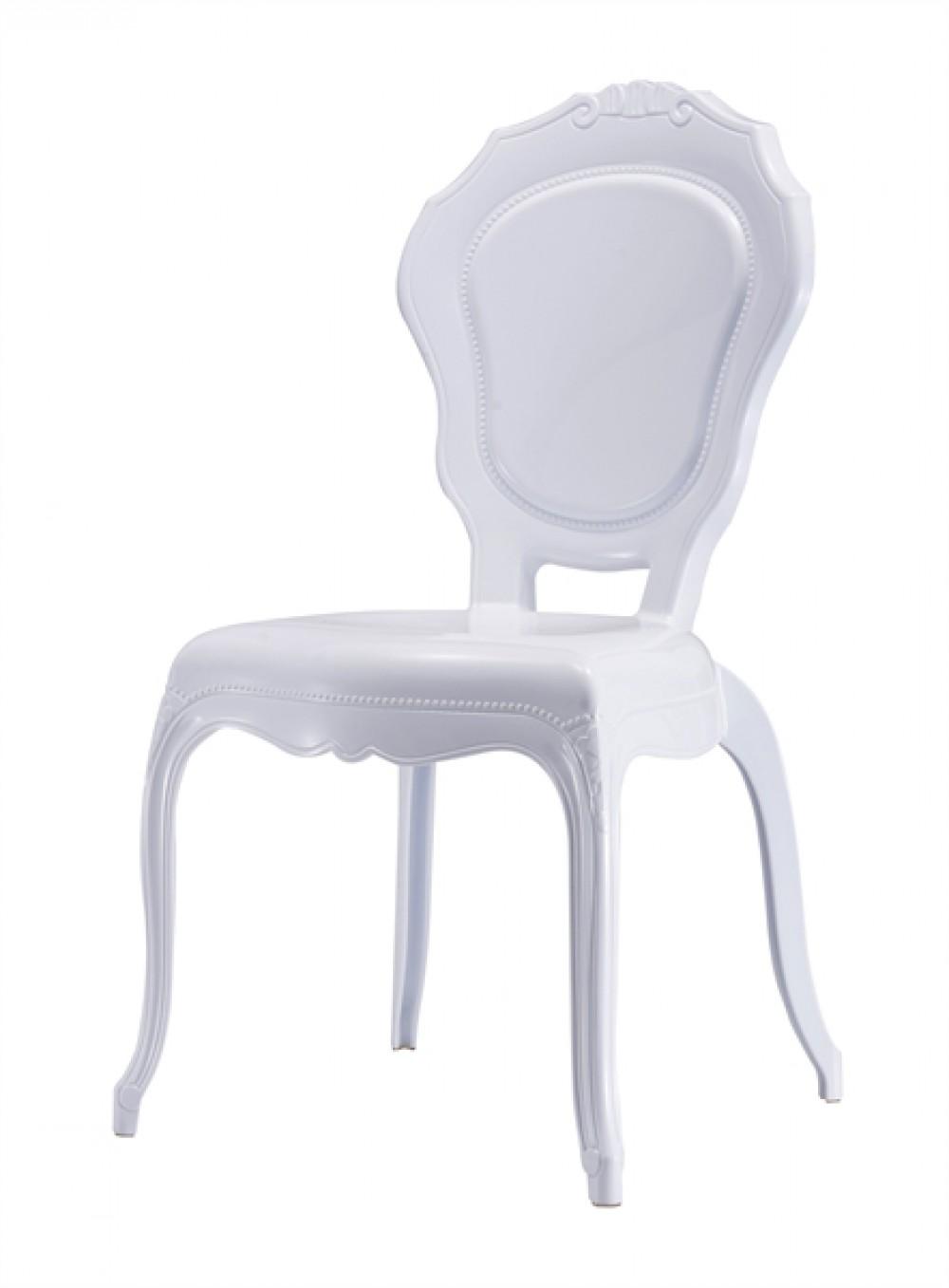 stuhl mit armlehne barock wei aus kunststoff. Black Bedroom Furniture Sets. Home Design Ideas