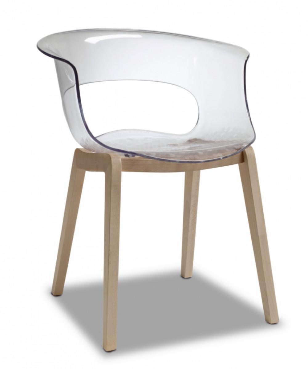 Design stuhl transparent stuhl mit armlehne for Stuhl transparent design