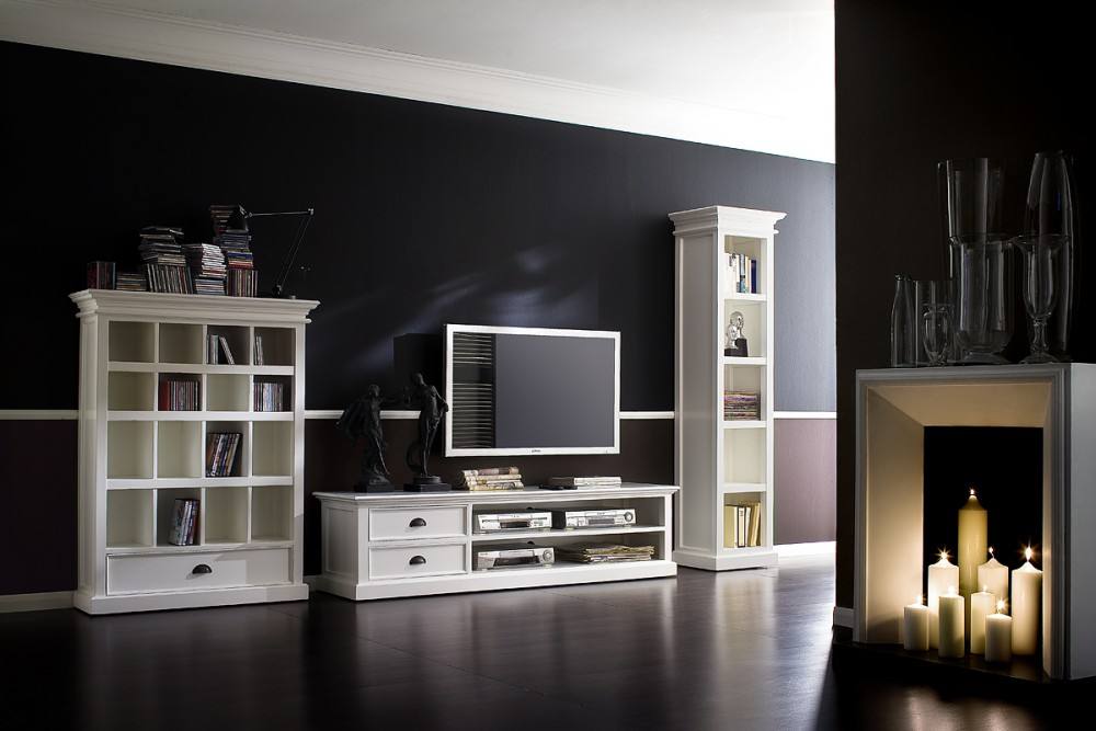regal b cherregal weiss im landhausstil. Black Bedroom Furniture Sets. Home Design Ideas