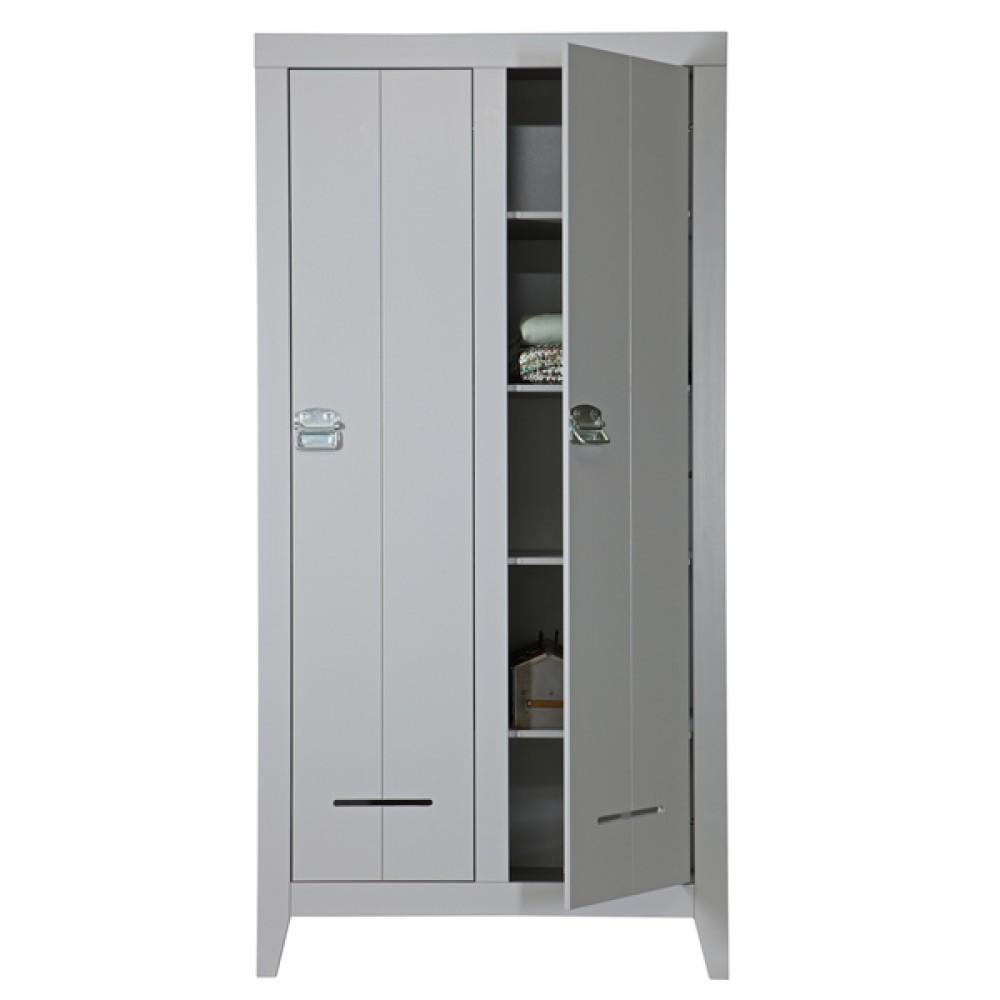schrank grau schrank 2 t ren kinderzimmerschrank grau. Black Bedroom Furniture Sets. Home Design Ideas
