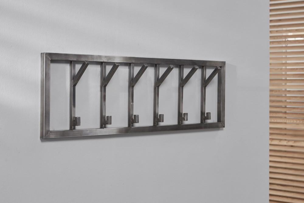Wandgarderobe Edelstahl wandgarderobe edelstahl garderobe grau metall breite 100 cm
