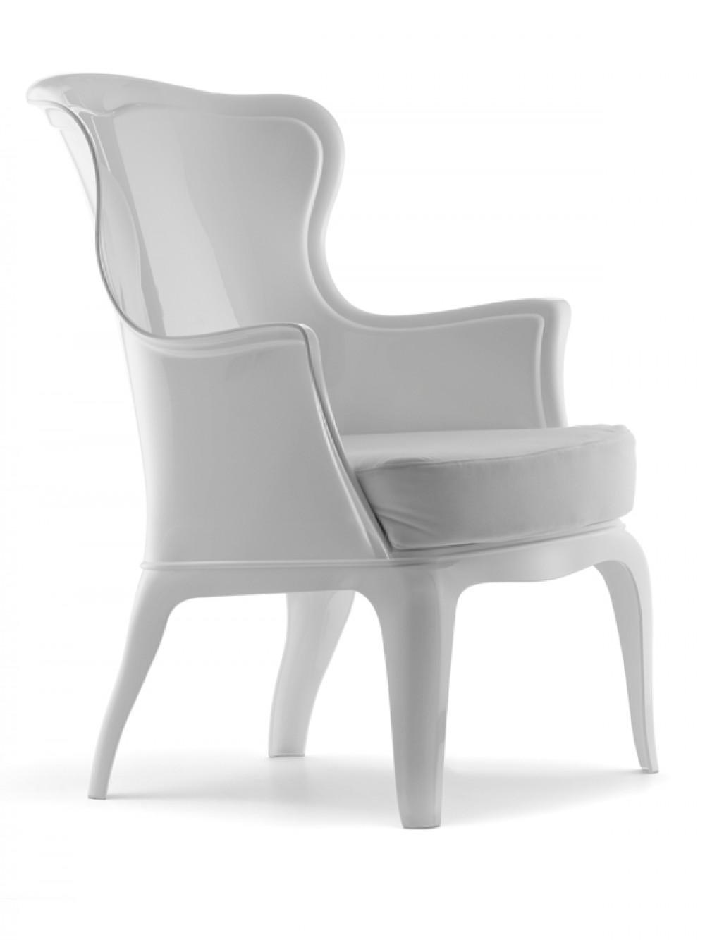 Sessel im modern barockstil italienisches design farbe wei for Kuchenstuhle italienisches design