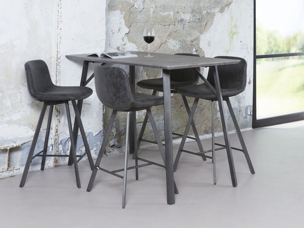 bartisch grau im industriedesign bartisch metall grau. Black Bedroom Furniture Sets. Home Design Ideas