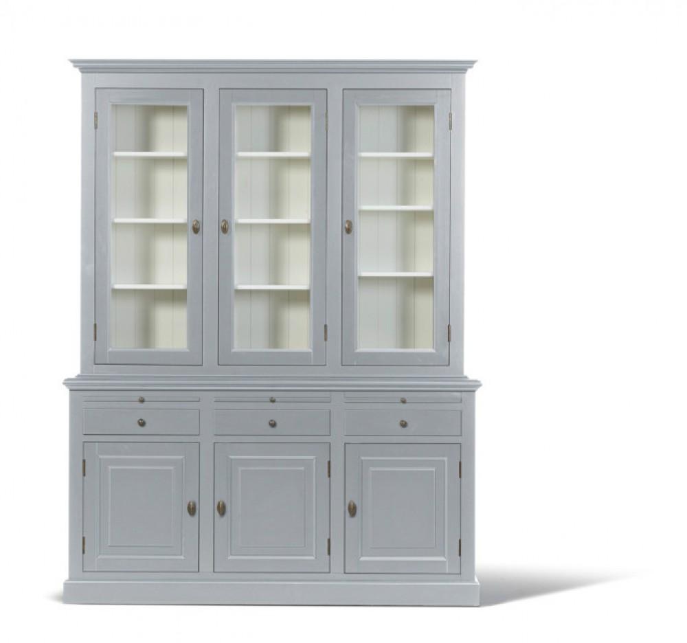 vitrinen wohnzimmerschrank im landhausstil in vier farben. Black Bedroom Furniture Sets. Home Design Ideas