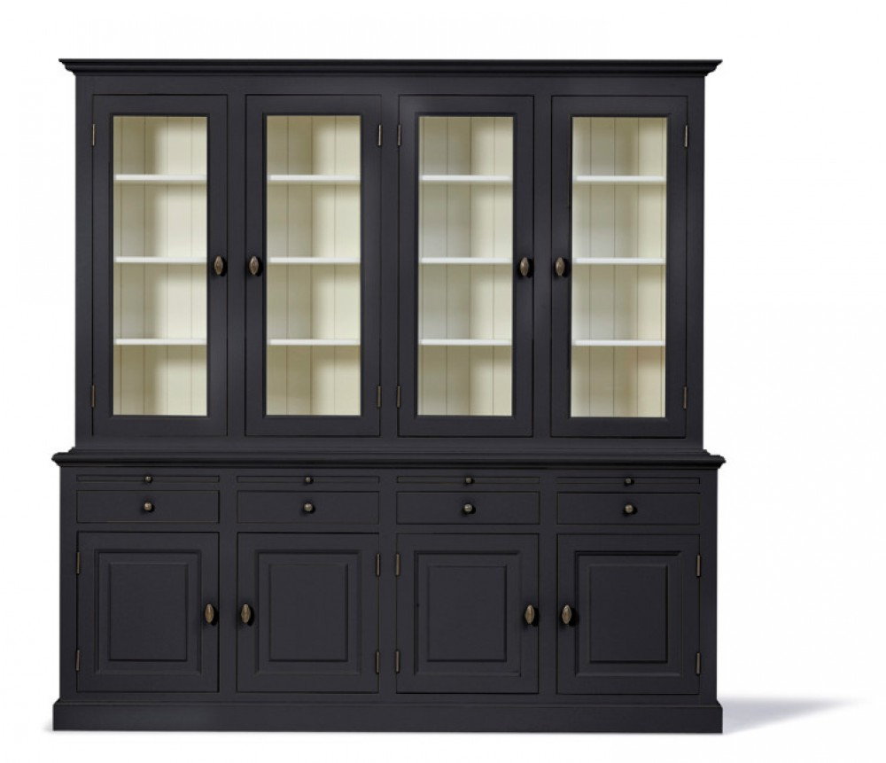 vitrinen wei landhausstil wohnzimmerschrank wei landhaus buffetschrank wei breite 228 cm. Black Bedroom Furniture Sets. Home Design Ideas