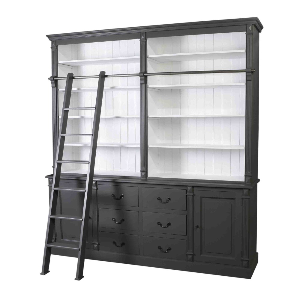 b cher wohnzimmerschrank massivholz im landhausstil in. Black Bedroom Furniture Sets. Home Design Ideas
