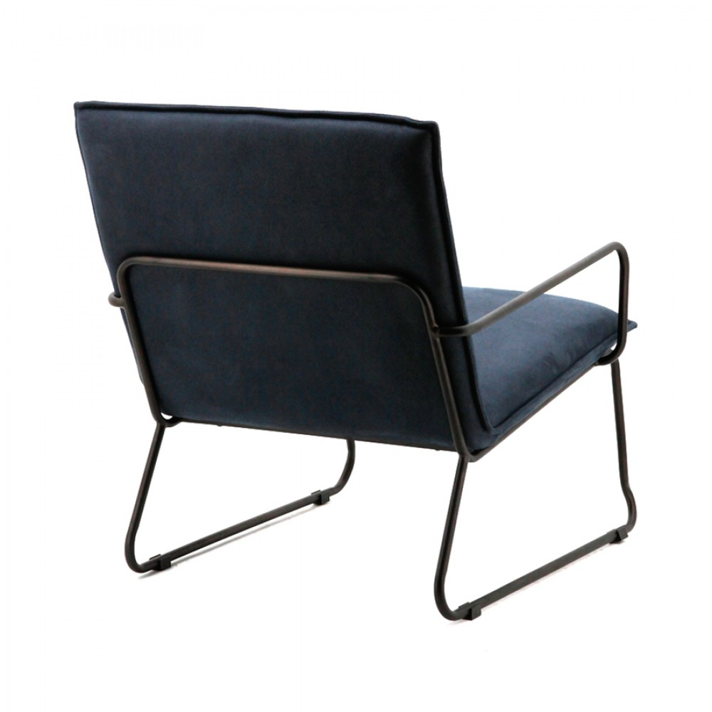 sessel mit armlehnen sessel industriedesign in blau. Black Bedroom Furniture Sets. Home Design Ideas