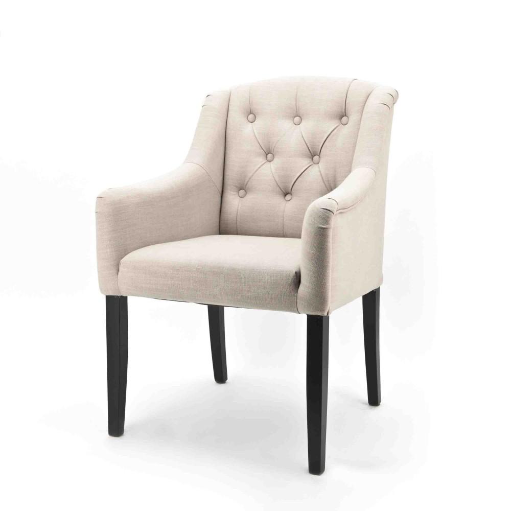 stuhlsessel im landhausstil gepolstert in sand. Black Bedroom Furniture Sets. Home Design Ideas