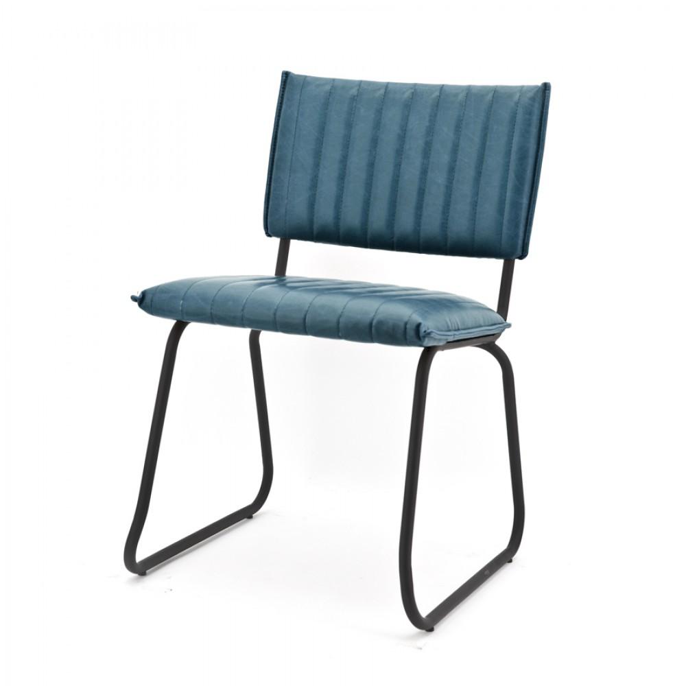 Stuhl im industriedesign blau modern for Sofa industriedesign