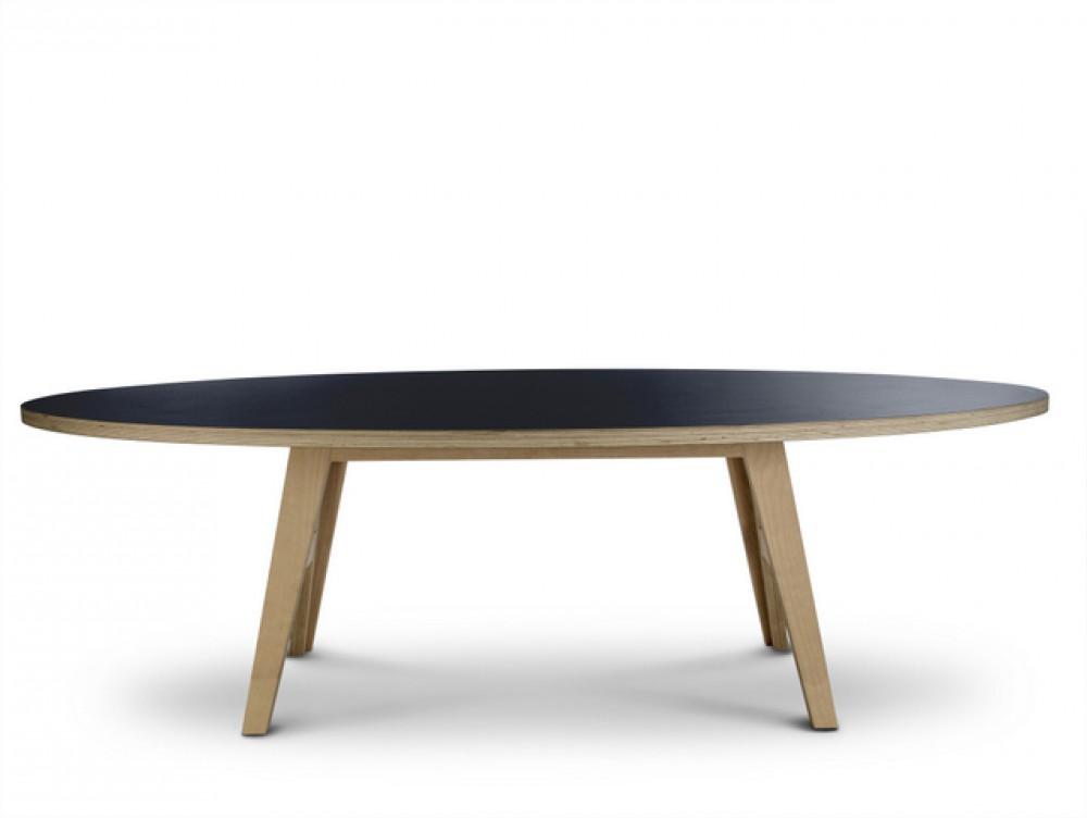 Ovaler esstisch schwarz tisch schwarz oval design for Designer esstisch schwarz