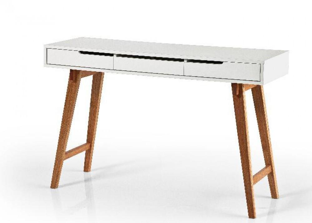 konsole wei braun wandtisch mit drei schubladen. Black Bedroom Furniture Sets. Home Design Ideas