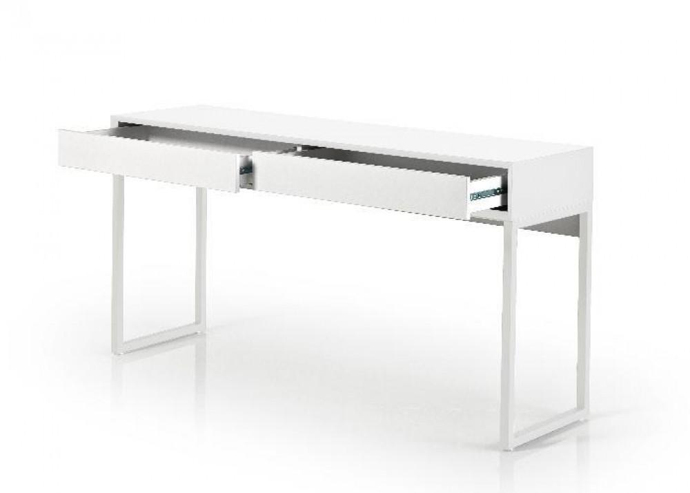 konsole wei wandtisch mit zwei schubladen wei breite 140 cm. Black Bedroom Furniture Sets. Home Design Ideas