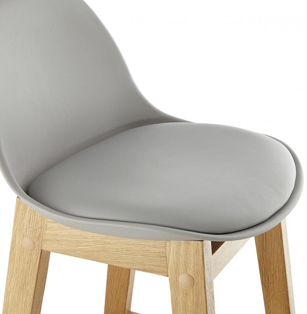 barstuhl grau tresenhocker grau kunststoff holz hocker. Black Bedroom Furniture Sets. Home Design Ideas