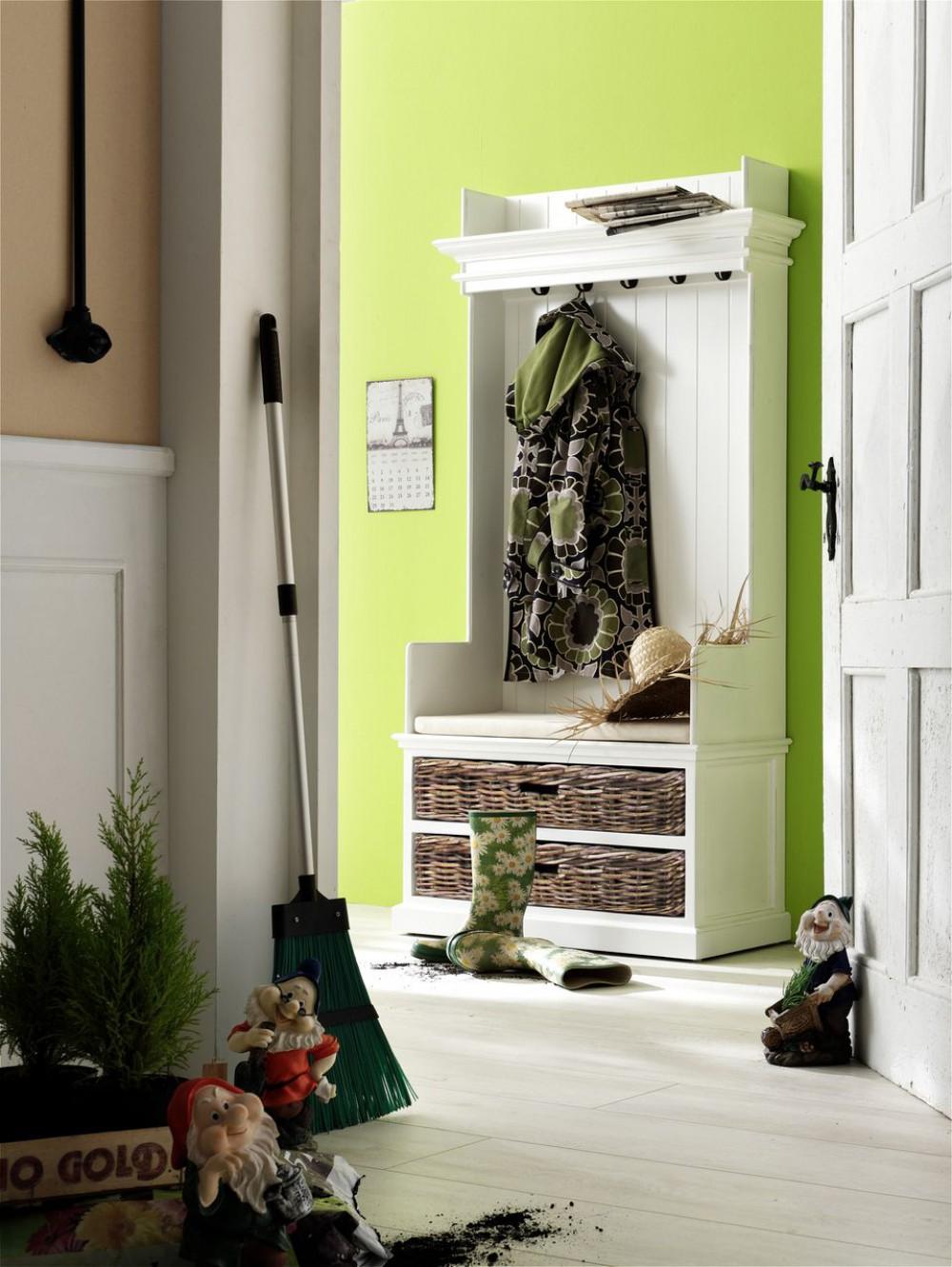 garderobe garderobenschrank wei im landhausstil aus. Black Bedroom Furniture Sets. Home Design Ideas