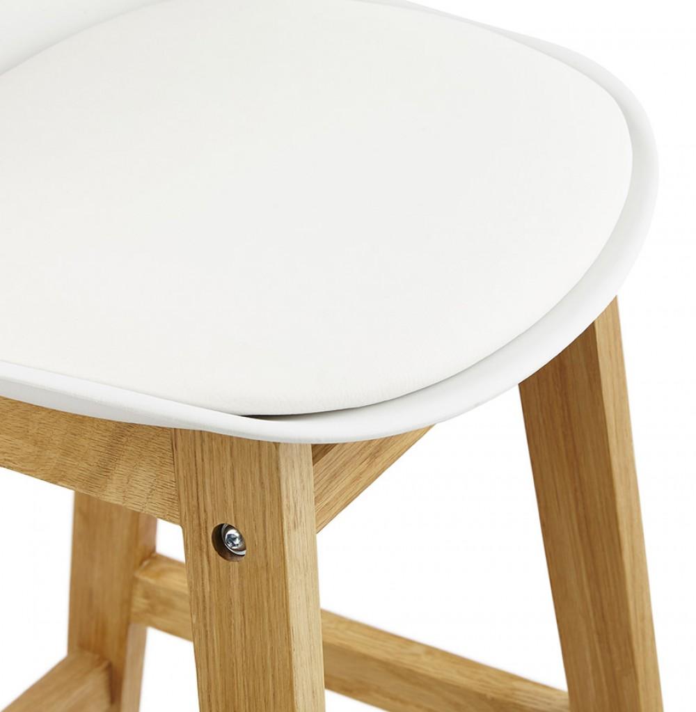 barstuhl wei tresenhocker schwarz kunststoff holz hocker wei sitzh he 79 cm. Black Bedroom Furniture Sets. Home Design Ideas