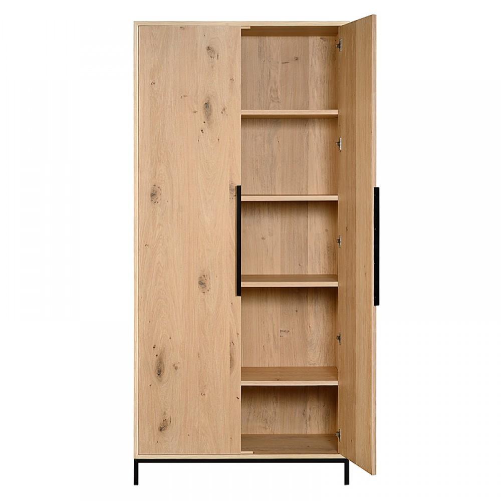 schrank eiche massiv im landhausstil. Black Bedroom Furniture Sets. Home Design Ideas