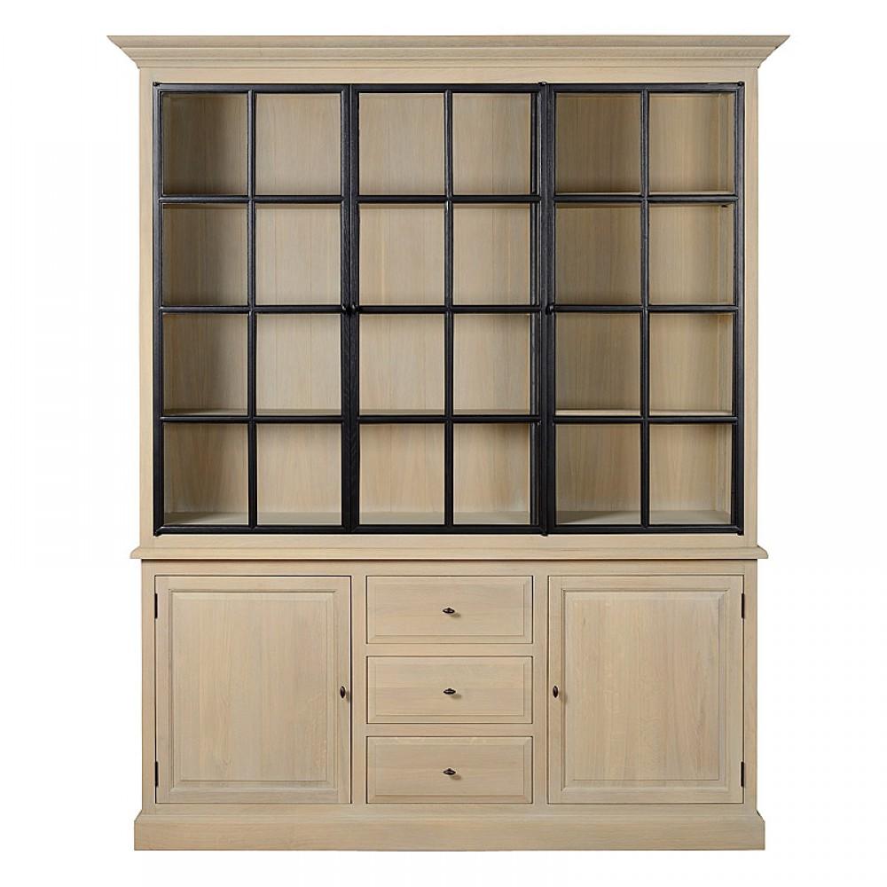 vitrine eiche massiv landhaus geschirrschrank eiche massiv im landhausstil. Black Bedroom Furniture Sets. Home Design Ideas