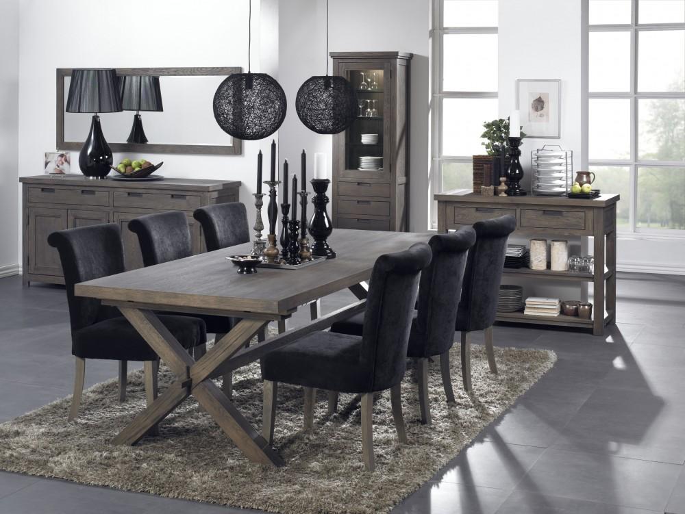 esstisch im landhausstil aus eichenholz massiv in 240 cm l nge. Black Bedroom Furniture Sets. Home Design Ideas