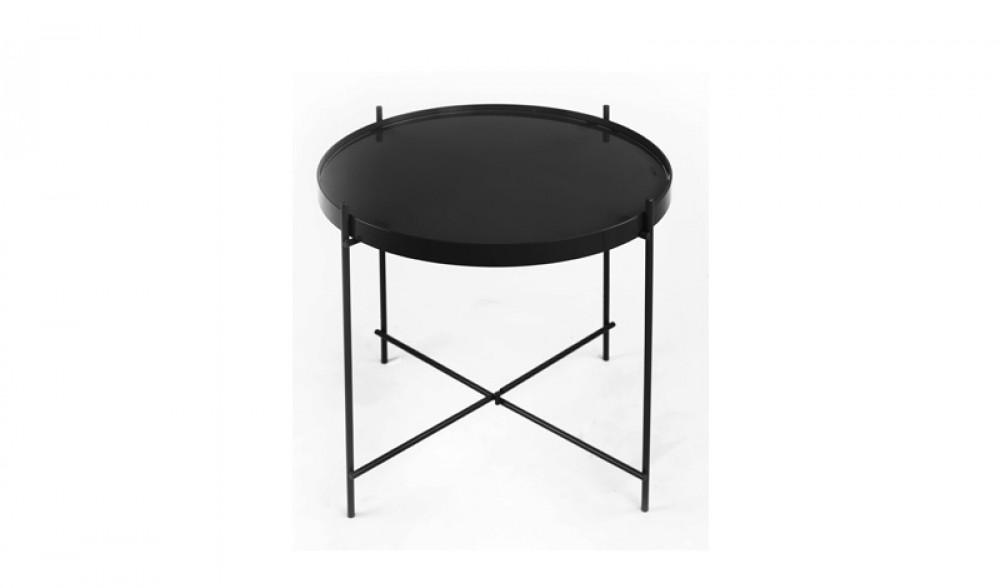 design beistelltisch aus glas abnehmbar eisen schwarz. Black Bedroom Furniture Sets. Home Design Ideas