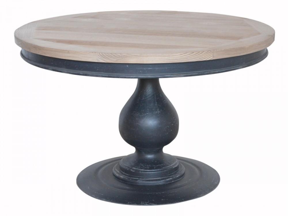Tisch rund schwarz esstisch rund metall holz for Design tisch holz metall