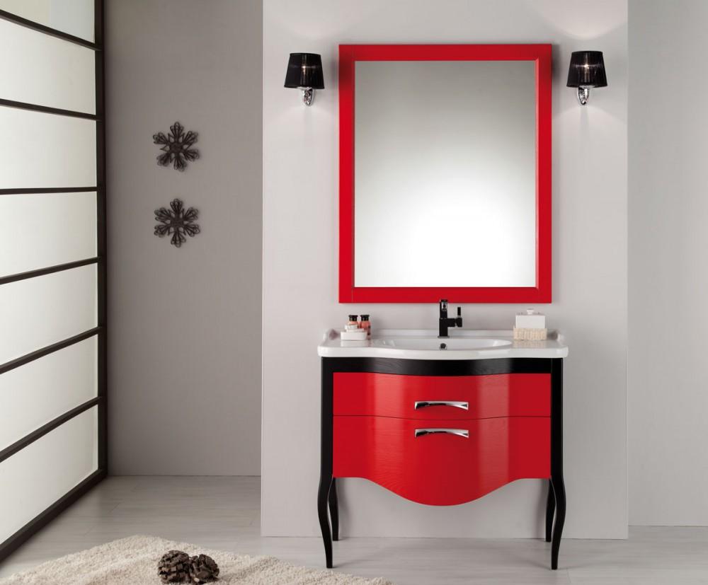 Waschtisch mit spiegel im landhausstil in verschidenen for Breite golf 6 mit spiegel