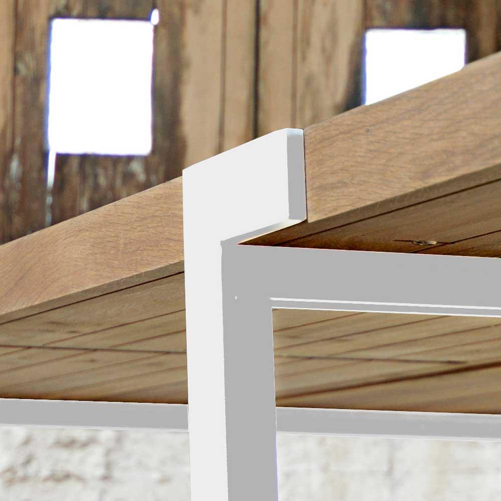 Esstisch Eiche Tischplatte Wei E Tischbeine Tisch Massiv
