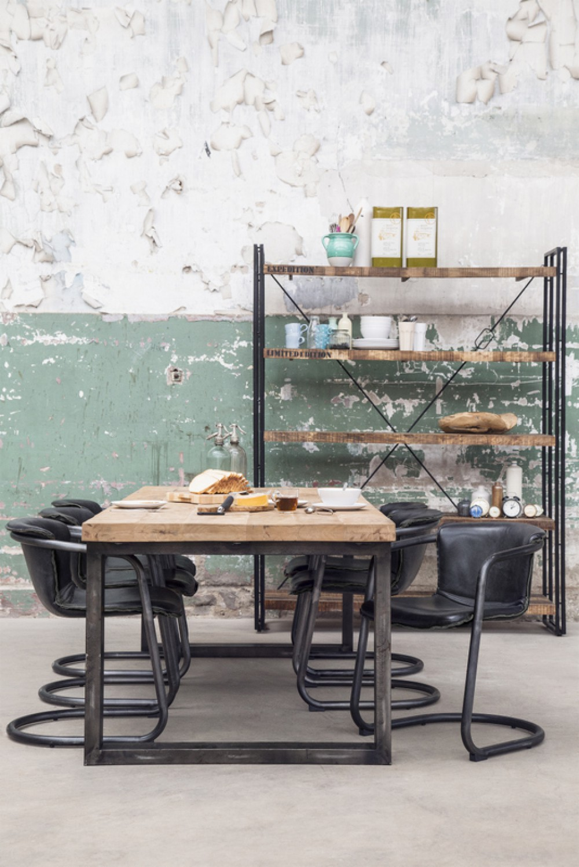 tisch schwarz naturholz esstisch industrie schwarz tisch metall schwarz breite 300 cm. Black Bedroom Furniture Sets. Home Design Ideas