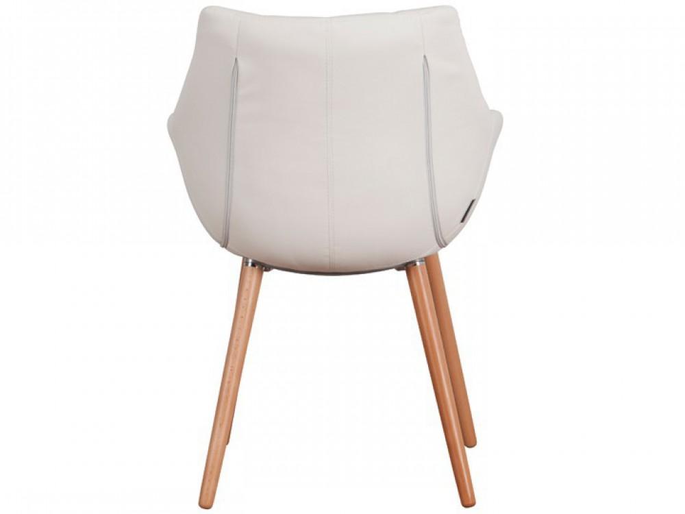 Stühle weiß kunstleder  2er Set, Stuhl mit Kunstleder bezogen, Sessel gepolstert in Weiß