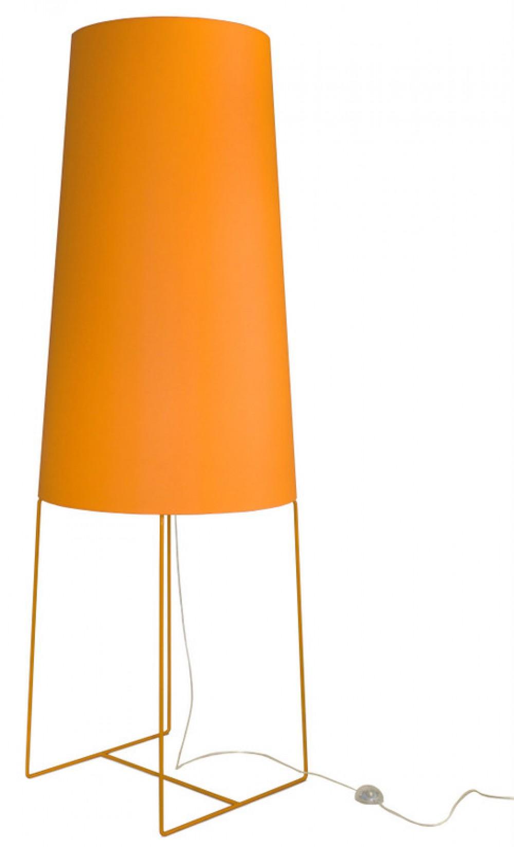 xxl design stehleuchte orange moderne stehlampe in f nf. Black Bedroom Furniture Sets. Home Design Ideas