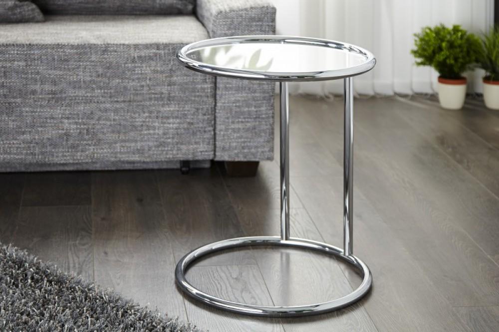 beistelltisch aus glas und metall. Black Bedroom Furniture Sets. Home Design Ideas