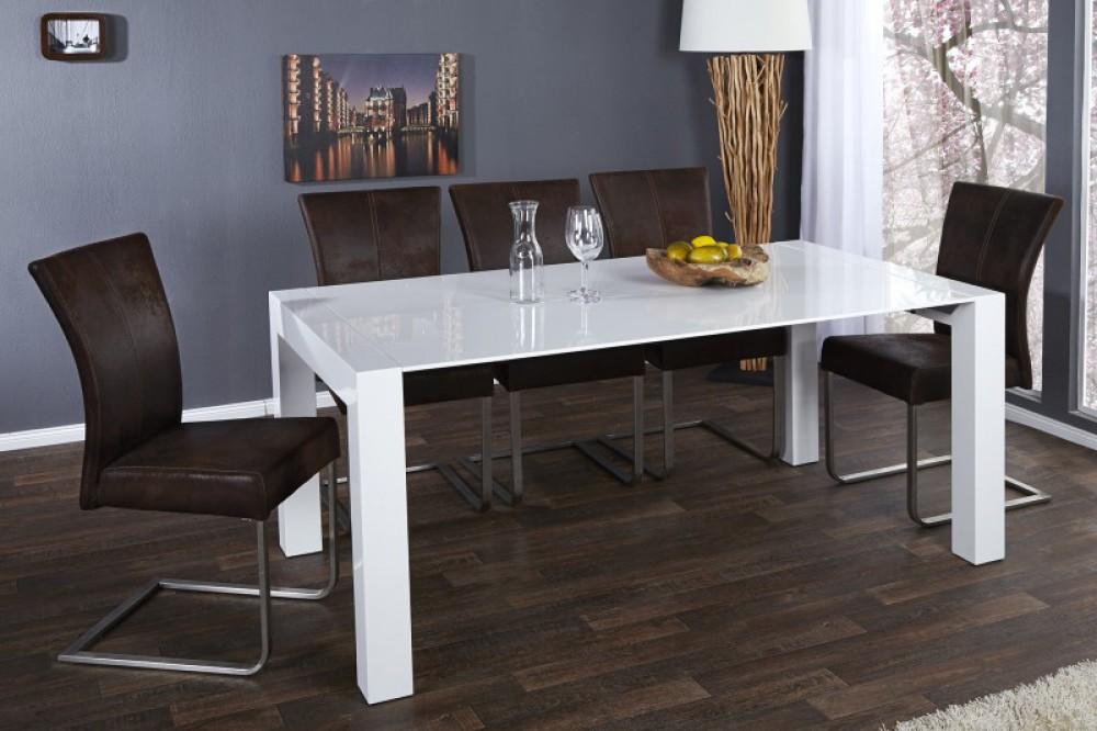 esstisch wei hochglanz konferenztisch tisch wei l nge 180 260 cm. Black Bedroom Furniture Sets. Home Design Ideas