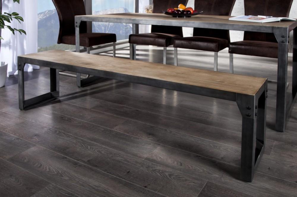esstisch metall gestell tisch im industriedesign ma e 160 x 90 cm. Black Bedroom Furniture Sets. Home Design Ideas