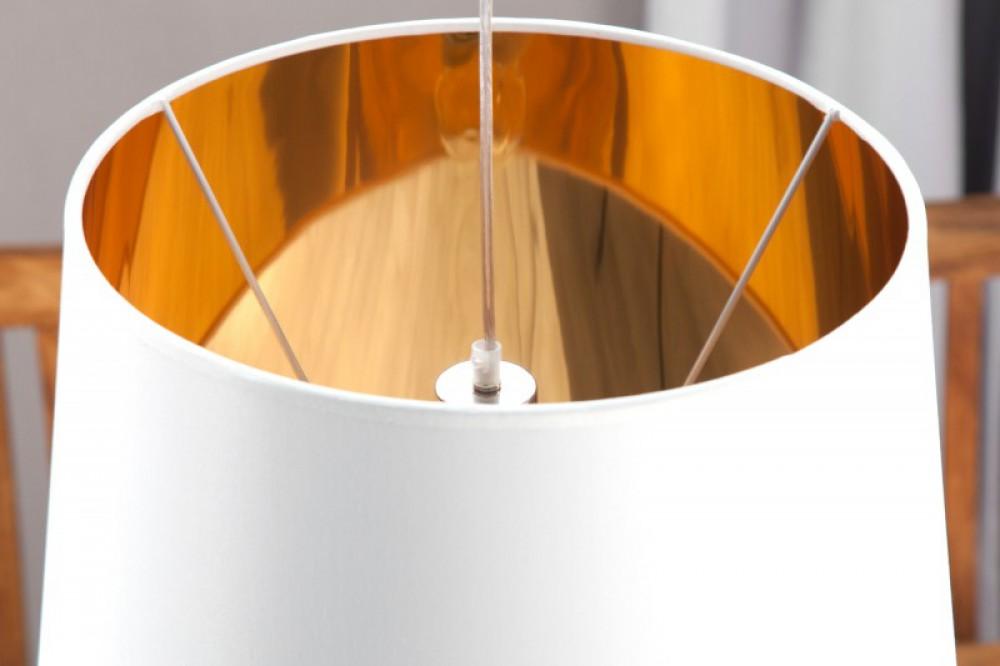 pendelleuchte wei gold lampenschirm wei 45 cm. Black Bedroom Furniture Sets. Home Design Ideas