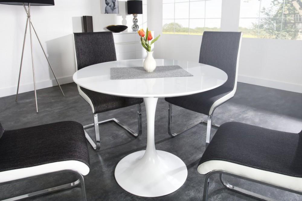 Latest Runder Tisch Wei Hochglanz Wei Rund Esstisch Rund Wei Hochglanz  Durchmesser Cm With Rund Esstisch