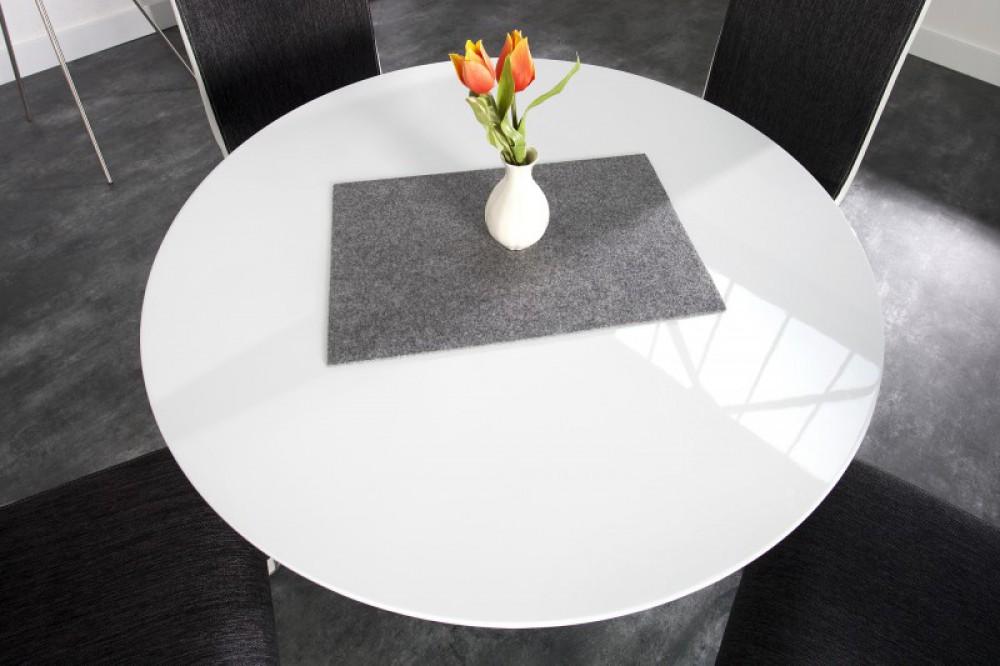 Runder Tisch weiß hochglanz, Konferenztisch weiß rund, Esstisch rund ...