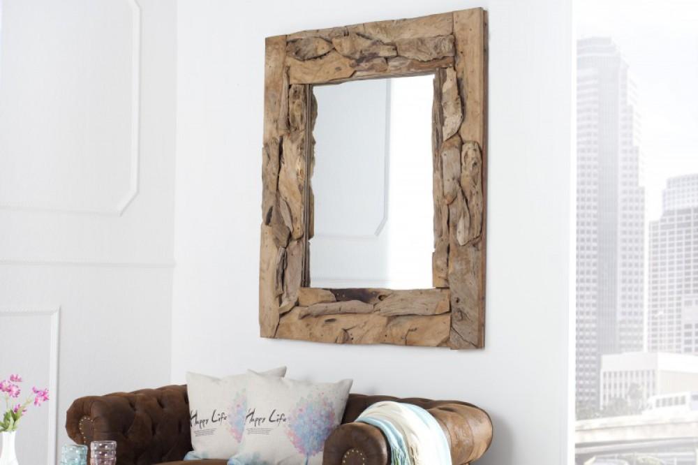 spiegel altholz rahmen wandspiegel ma e 120x85 cm. Black Bedroom Furniture Sets. Home Design Ideas